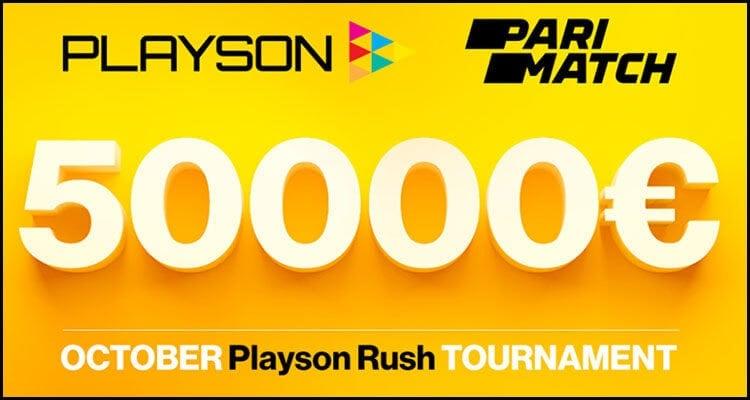 Parimatch.com triển khai giải đấu October Playson Rush